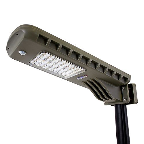 Gama Sonic 12W 140-Degree Dark Grey Motion Activated Solar Outdoor Integrated LED Flood Light