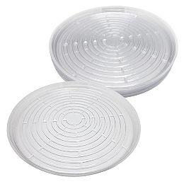 Soucoupe de plastique clair 17,5 po. (Pqt de 10)