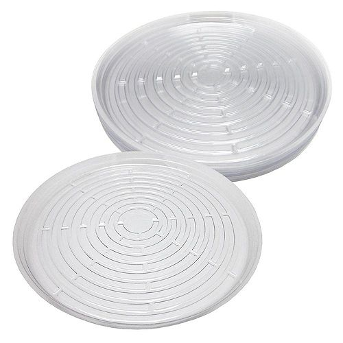 17.5 in Clear Plastic Saucer 10-Pack