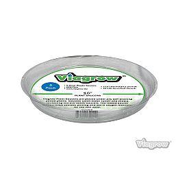Soucoupe de plastique clair 17,5 po. (Pqt de 5)