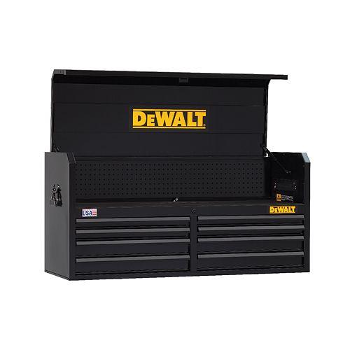 DEWALT DW 52IN 8DWR OPEN TILL CHEST-BLACK