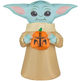 Airdorable The Child with Pumpkin Inflatable Halloween Decoration