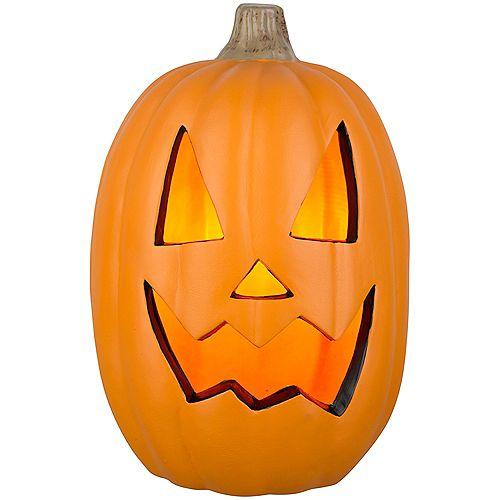 16-inch Orange Lighted Blow Mould Scary Jack-O-Lantern