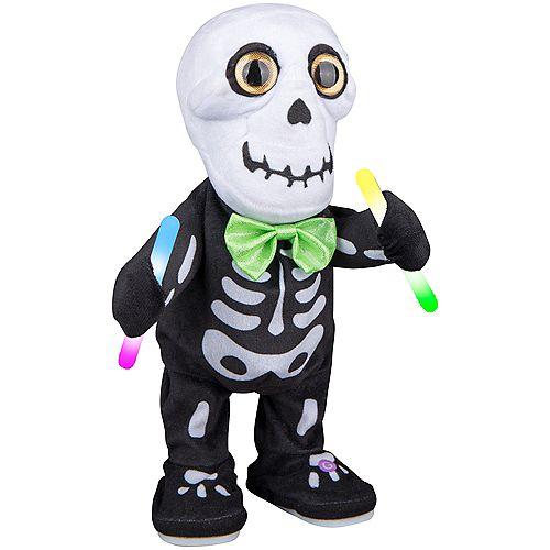 Animated Plush Skeleton with Glow Sticks Halloween Decoration