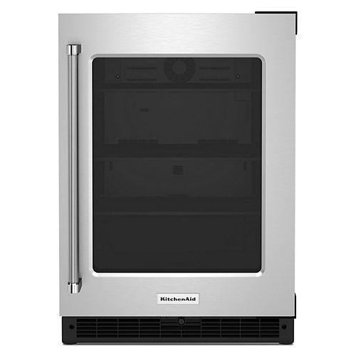 24-inch Undercounter Refrigerator with Glass Door