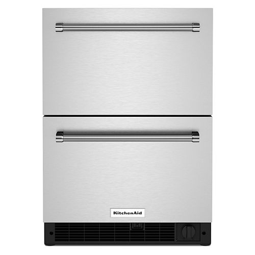 24 Stainless Steel Undercounter Double-Drawer Refrigerator/Freezer