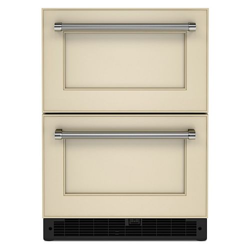 24 Panel-Ready Undercounter Double-Drawer Refrigerator