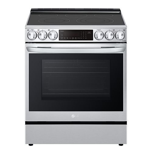 6.3 cu ft. Smart Electric Slide-in Range with Wi-Fi, Air Fry and InstaView in Stainless Steel