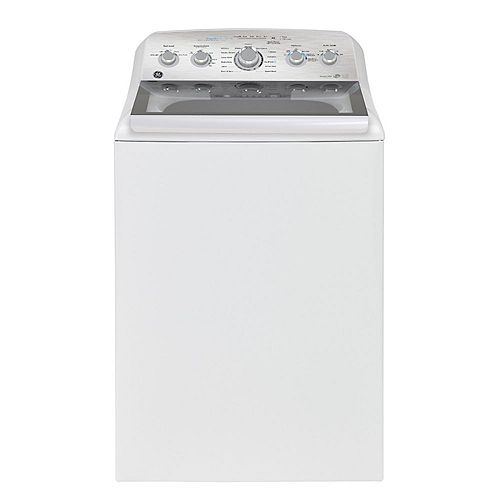 GE 5.0 Cu. Ft. Top Load Washer in White with SaniFresh Cycle