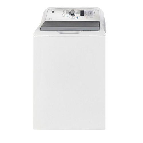 Laveuse à chargement par le haut de 5,3 pi3 en blanc avec Cycle SaniFresh