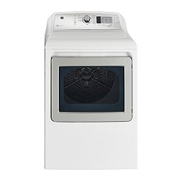 7.4 Cu.Ft. Front Load Electric Dryer in White with SaniFresh Cycle