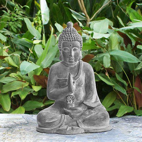Atlanta Grey Decorative Buddha Garden Decor Statue
