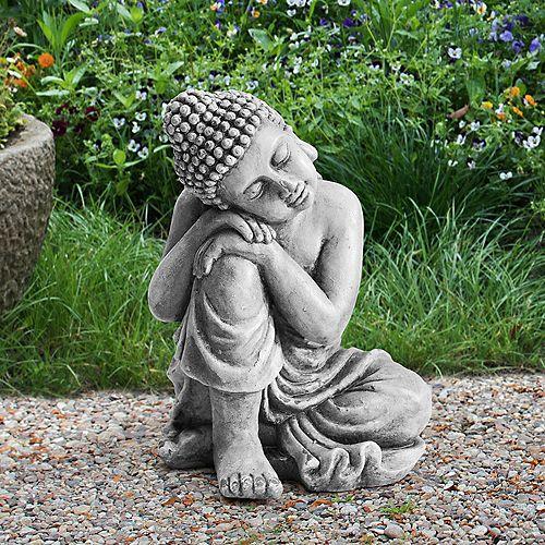 Ivan Grey Decorative Buddha Garden Decor Statue