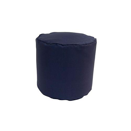 Round Pouff Navy
