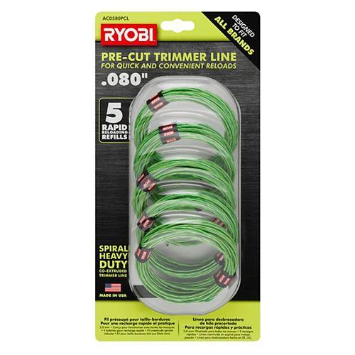 0.080 in. Pre-Cut Spiral Line (5-Pack)