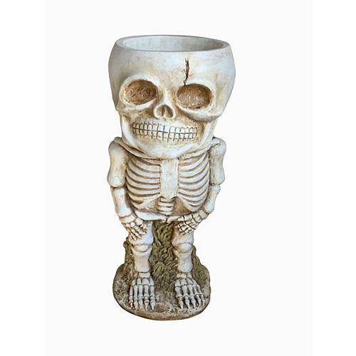 27.5-inch Skeleton Candy Bowl-Door Greeter Halloween Decoration