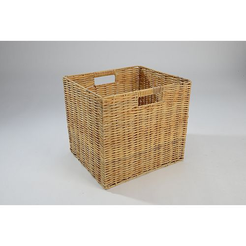 Collapsible Wicker Cube - Natural