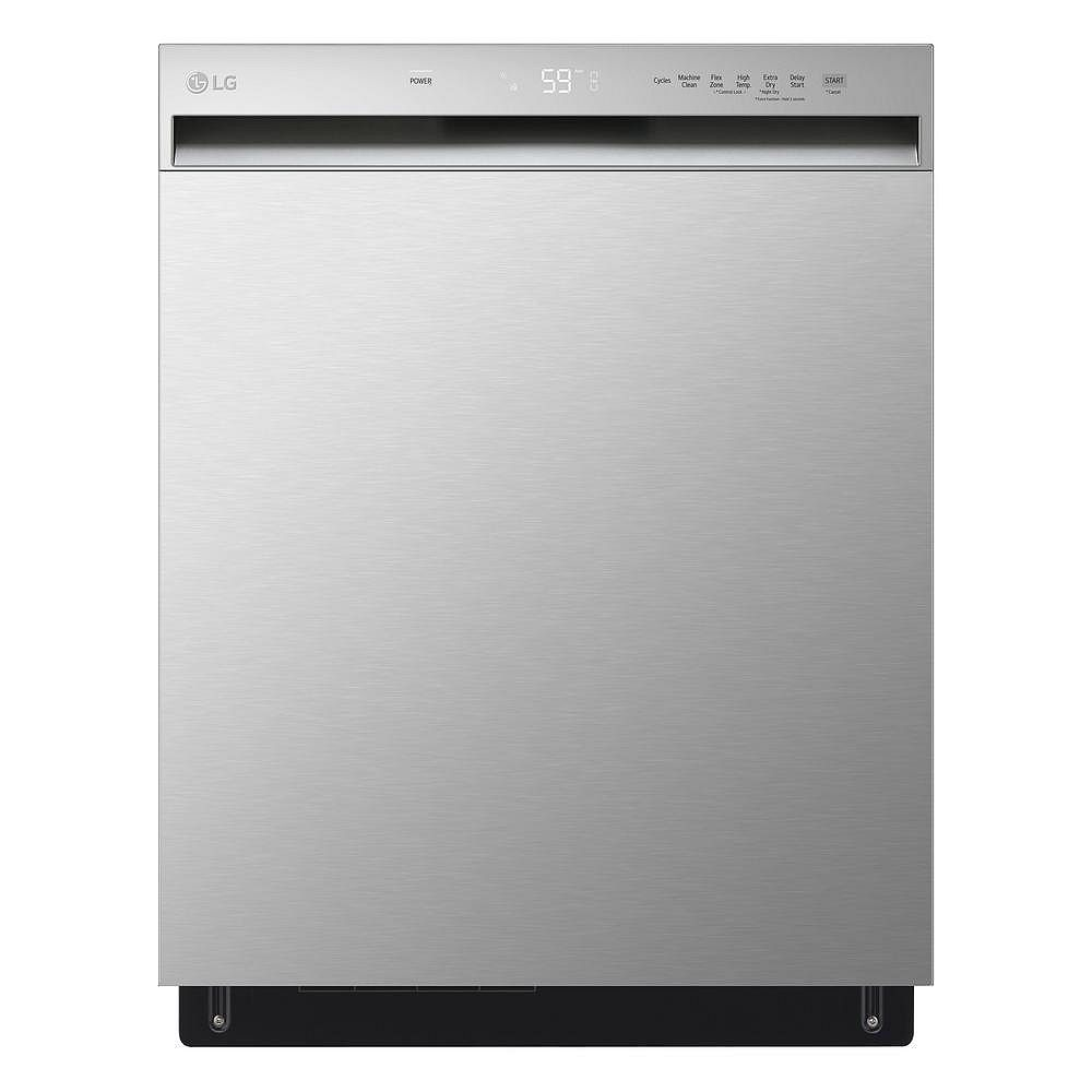 LG Electronics Front Control Dishwasher with QuadWash in Stainless Steel with Stainless Steel Tub, 50 dBA - ENERGY STAR®