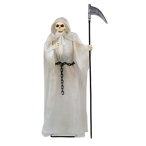 72-inch Animated Grim Reaper Holding Scythe with LED Eyes