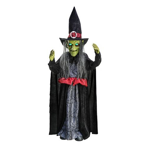 Home Accents Holiday 3 ft. Animated LED-Lit Dancing Witch Halloween Decoration