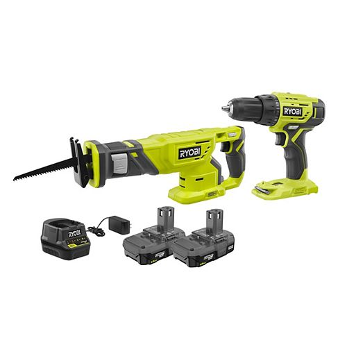 18V ONE+ Lithium-Ion Cordless 1/2-inch Drill/Driver and Reciprocating Saw Kit