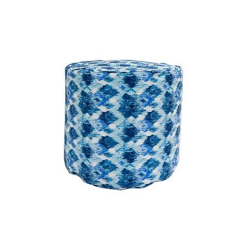 Round Pouff Blue
