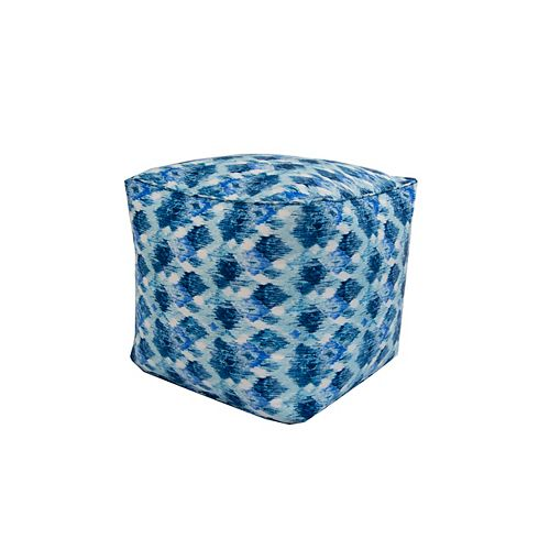 Square Pouff Blue