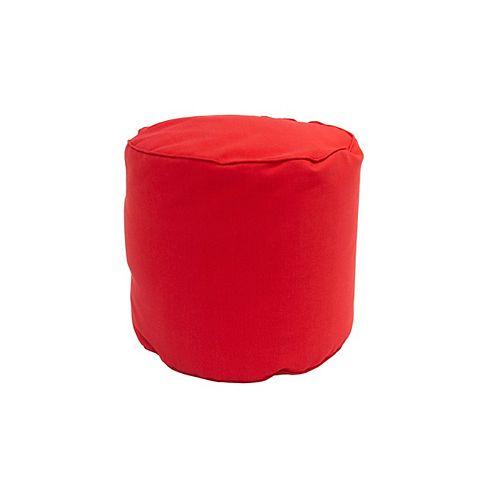 Round Pouff Red