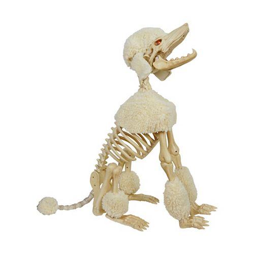 Animated Skeleton Sitting Poodle Halloween Decoration