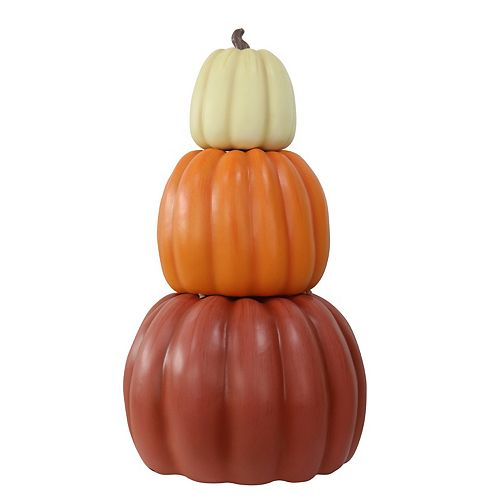 26.5-inch Fall 3-Piece Stacked Pumpkins