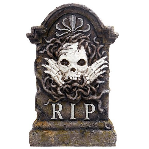22-inch Glow-in-the-Dark Tombstone Halloween Decoration