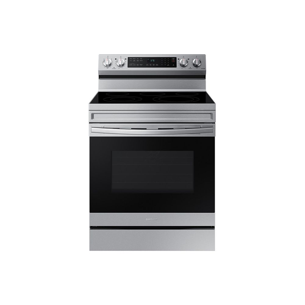 Samsung 6.3 cu. ft. Freestanding Electric Range with Convection Oven and Air Fry in Fingerprint Resistant Stainless Steel