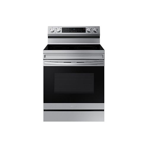 6.3 cu. ft. Freestanding Electric Range with Convection Oven and Air Fry in Fingerprint Resistant Stainless Steel