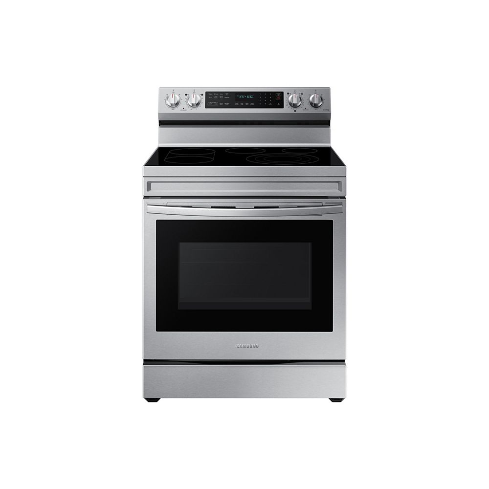 Samsung 6.3 cu.ft. Freestanding Electric Range with True Convection Oven and Air Fry in Stainless Steel