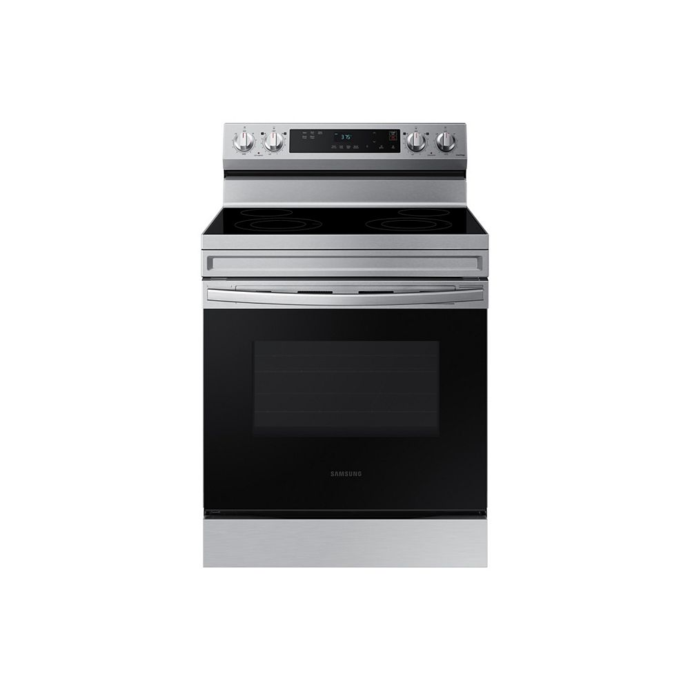 Samsung 6.3 cu.ft. Slide-In Electric Range with Steam-Cleaning Oven in Stainless Steel