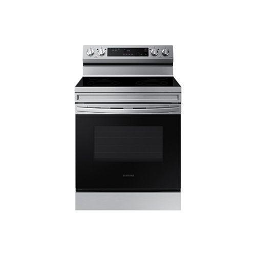 6.3 cu.ft. Slide-In Electric Range with Steam-Cleaning Oven in Stainless Steel