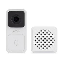 1080p Wired Smart Wall Mounted Door Bell Kit with Chime and Digital Zoom IP65 with Night Vision