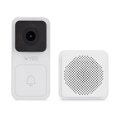 1080p Wired Smart Wall Mounted Door Bell Kit w/Chime, Digital Zoom, IP65, and Night Vision