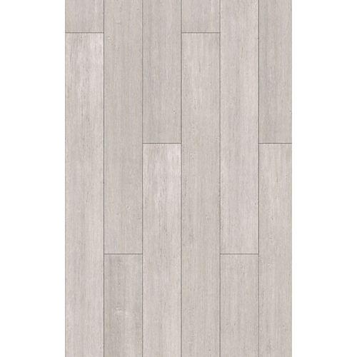 Revêt. sol SPC, bambou dingénierie antiqué, gris, 7 mm x 5 1/8 po x 36 1/4 po, 15,45 pi²/bte