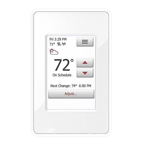 120-Volt/240-Volt Programmable WIFI Enabled Smart Touch Thermostat w/Floor Sensor