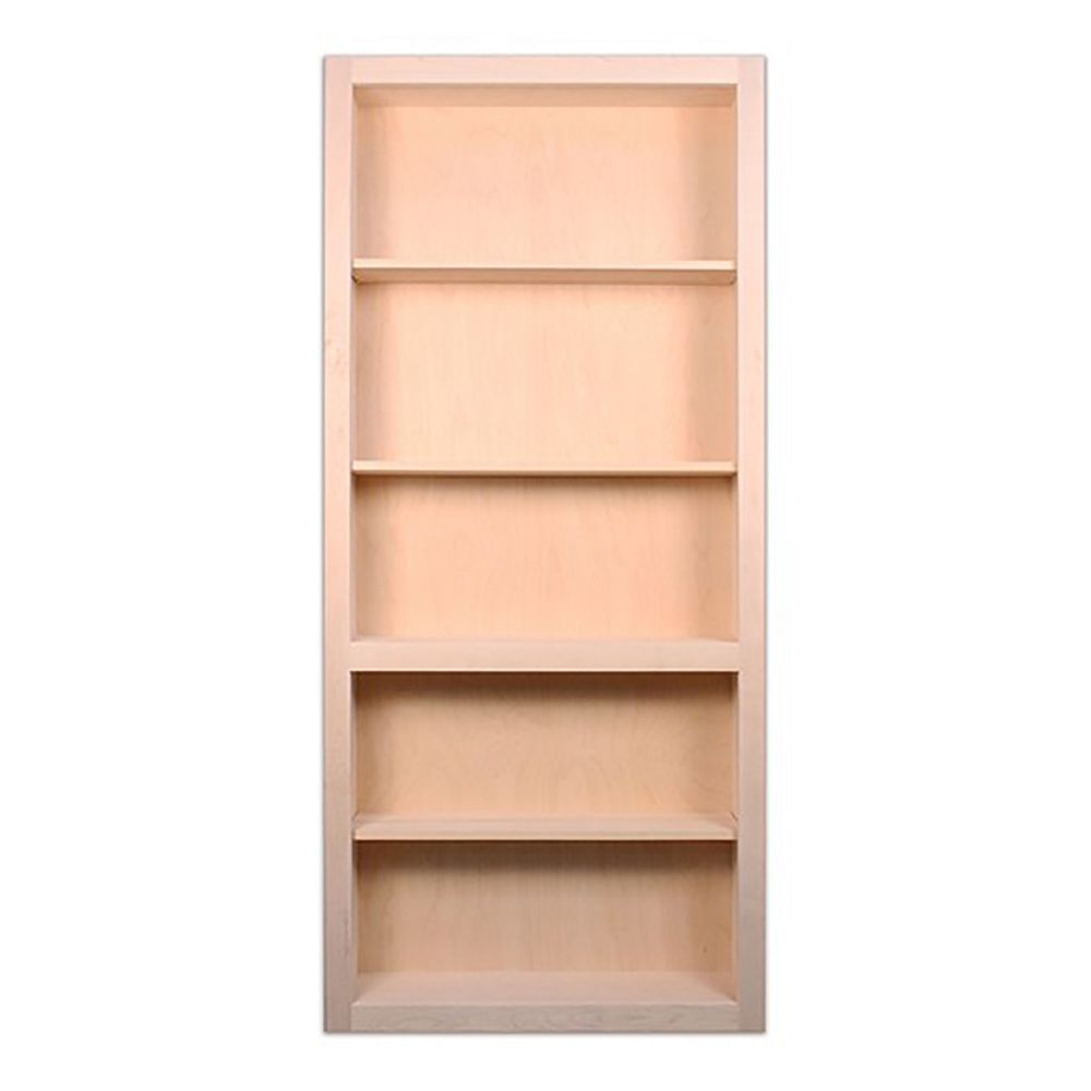 InvisiDoor 36 inch x 80 inch Flush Mount Assembled Maple Unfinished Right Hand In-Swing Bookcase Door