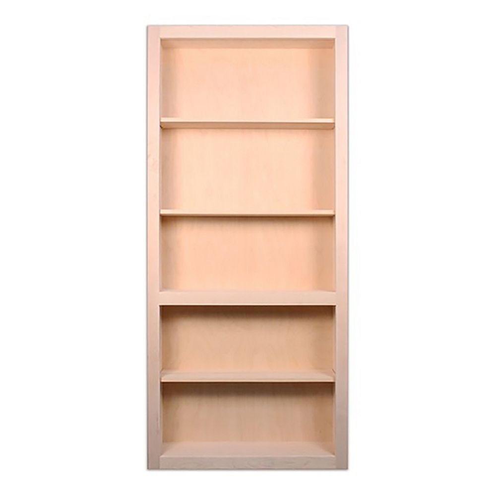 InvisiDoor 36 inch x 80 inch Flush Mount Assembled Oak Unfinished Right Hand Out-Swing Bookcase Door