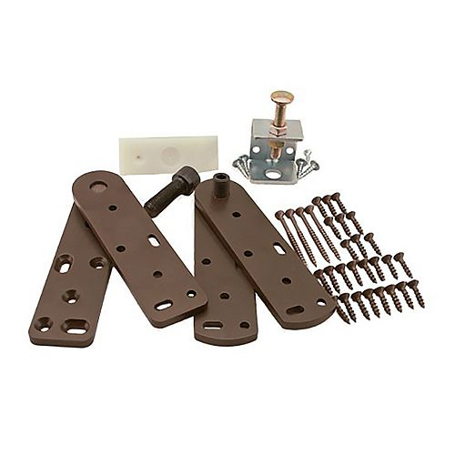 5.875 inch x 1.5 inch x 0.25 inch Hinge Hardware Kit for Interior Bookcase Door