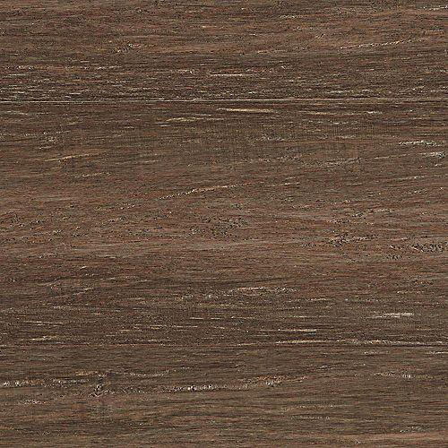 Plancher d'ingénierie Bambou en fils tressés Pécan, Ép 1/2 po. x l 7-1/2 po. x L 72-7/8 po.
