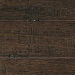 Handscraped Strand Woven Wellington 1/2 in T x 7-1/2 in. W x 72-7/8 in. L Engineered Bamboo Flooring