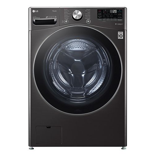 LG Electronics 5.2 cu.ft. Smart Front Load Washer with Artificial Intelligence and Wi-Fi in Black