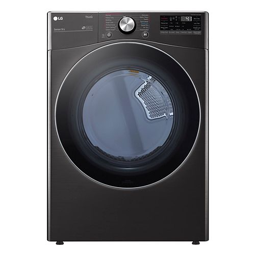 7.4 cu.ft. Smart Electric Dryer with Artificial Intelligence and Wi-Fi in Black, Stackable - ENERGY STAR®