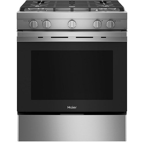 30-inch Smart Slide-In Gas Range with convection - Stainless Finish