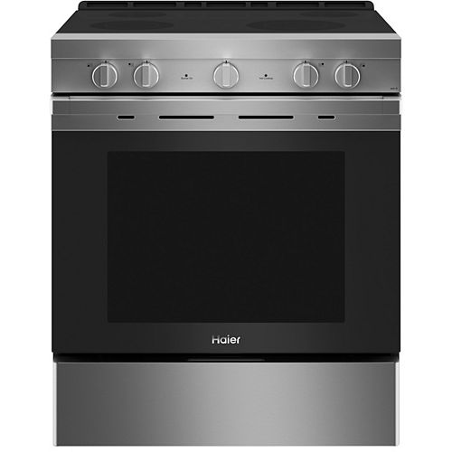 30-inch Smart Slide-In Electric Range with convection - Stainless Finish