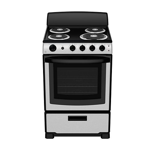 24-inch 2.9 cu ft Slide-In Electric Range - Stainless Steel